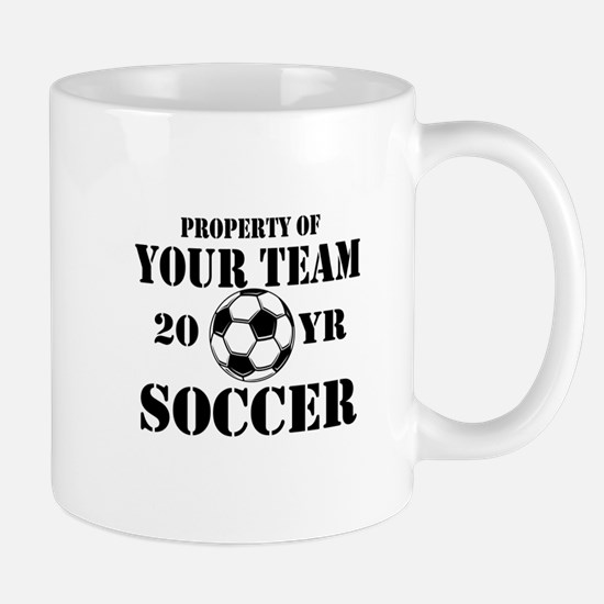 Personalized Property of Your Team Soccer Mugs