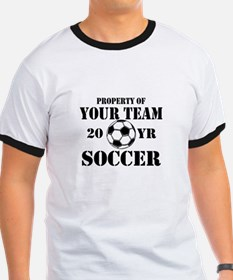 Personalized Property of Your Team Soccer T-Shirt