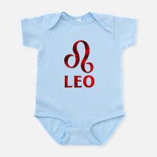 Red Leo Astrological Symbol Infant Bodysuit
