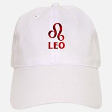 Red Leo Astrological Symbol Baseball Baseball Cap
