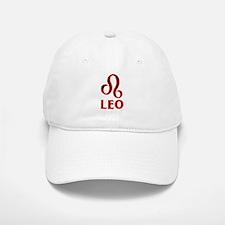 Red Leo Astrological Symbol Cap