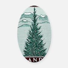Vintage 1957 Iceland Spruce Tree P Oval Car Magnet