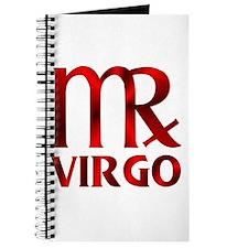 Red Virgo Astrology Symbol Journal
