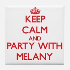Keep Calm and Party with Melany Tile Coaster