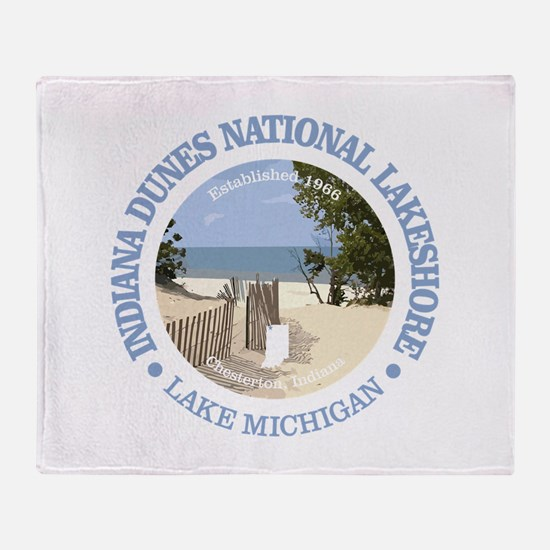 Indiana Dunes NL Throw Blanket