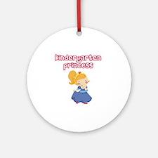 Kindergarten Princess Round Ornament