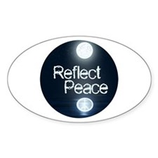 Reflect Peace Oval Decal