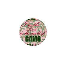 Pink Camo Mini Button