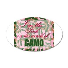 Pink Camo Wall Decal