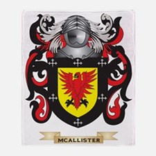 McAllister Coat of Arms - Family Cre Throw Blanket