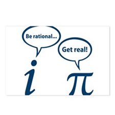 Be Rational Get Real Imaginary Math Pi Postcards (