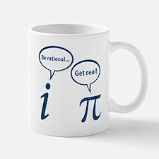 Be Rational Get Real Imaginary Math Pi Mugs