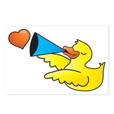 Yellow duckie duck with a Postcards (Package of 8)