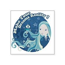 """Dream Sailor Girl Square Sticker 3"""" x 3"""""""