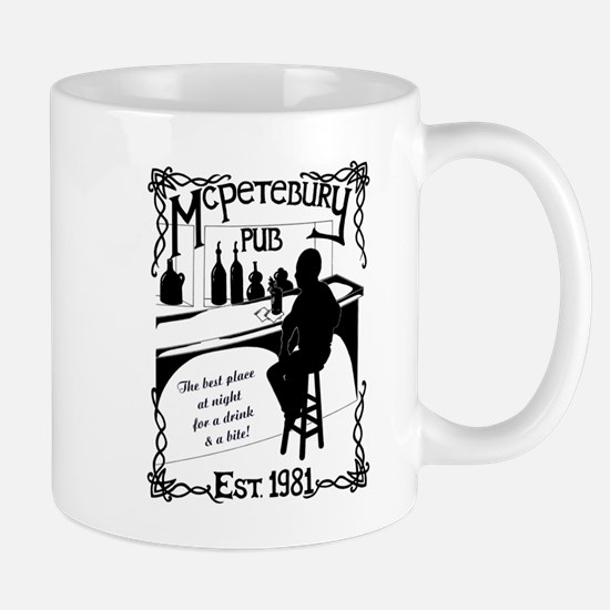 McPetebury Pub (Black) Mugs