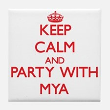 Keep Calm and Party with Mya Tile Coaster