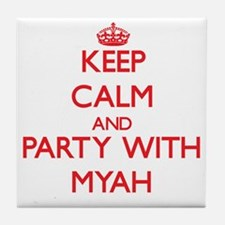 Keep Calm and Party with Myah Tile Coaster