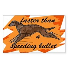 whippet running Rectangle Decal