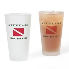 Aitutaki Cook Islands Scuba Drinking Glass