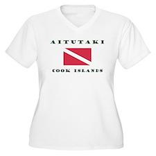 Aitutaki Cook Islands Scuba Plus Size T-Shirt