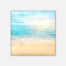 """Beautiful Beach Square Sticker 3"""" x 3"""""""