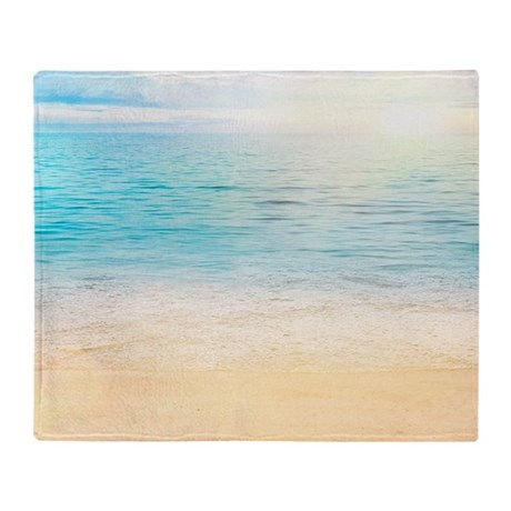 Beautiful Beach Throw Blanket