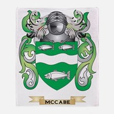 McCabe Coat of Arms - Family Crest Throw Blanket