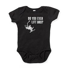Bro, Do You Even Ski Lift? Baby Bodysuit