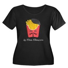 Le French Fries from France Plus Size T-Shirt