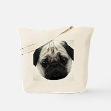 Pug Head Tote Bag