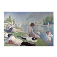 Bathers at Asnieres 5'x7'Area Rug