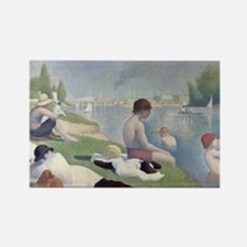 Bathers at Asnieres Magnets