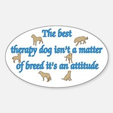Best Therapy Dog Decal