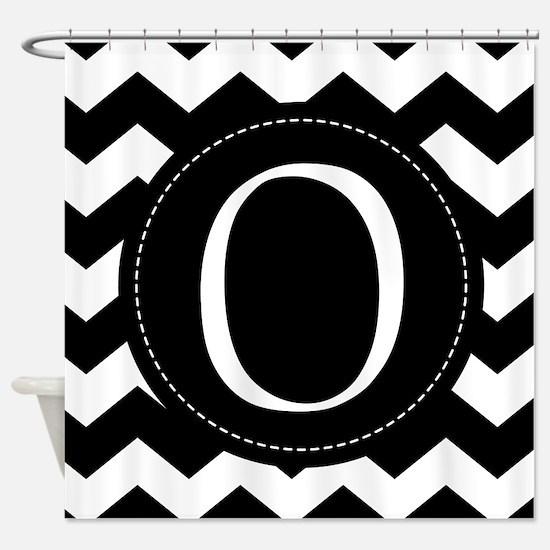Chevron Monogram Letter O Shower Curtain