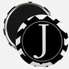 Chevron Monogram Letter J Magnet
