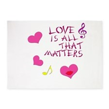 Love is all that matters 5'x7'Area Rug