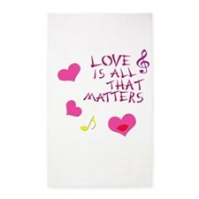 Love is all that matters 3'x5' Area Rug
