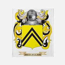 McClellan Coat of Arms - Family Cres Throw Blanket