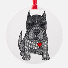 Devotion -American Pitbull Terrier 2 Ornament