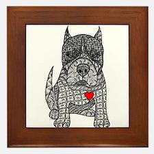 Devotion -American Pitbull Terrier 2 Framed Tile