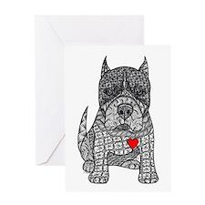 Devotion -American Pitbull Terrier 2 Greeting Card
