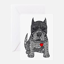 Devotion -American Pitbull Terrier 2 Greeting Card
