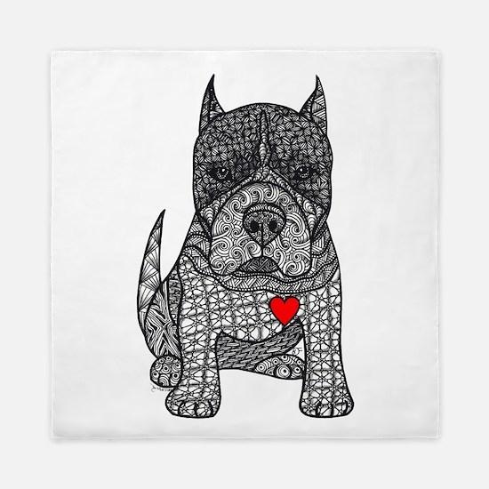 Devotion -American Pitbull Terrier 2 Queen Duvet