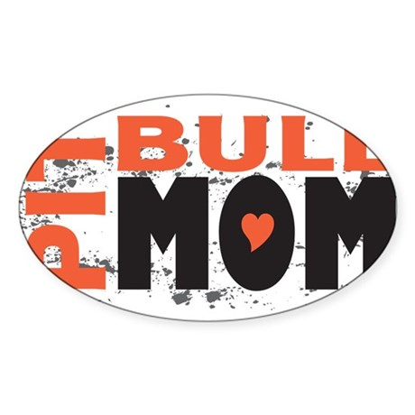 Pit Bull Mom Rectangle Sticker