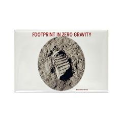 Zero Gravity Footprint Rectangle Magnet (10 pack)