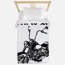 Born To Ride Motorcycle Twin Duvet