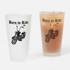 Born To Ride Motorcycle Drinking Glass