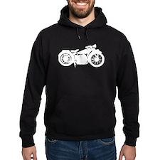Vintage Motorcycle Silhouette Hoodie