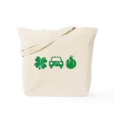 Irish Car Bomb Distressed Tote Bag