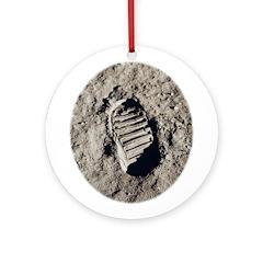 Moon Footprint Ornament (Round)